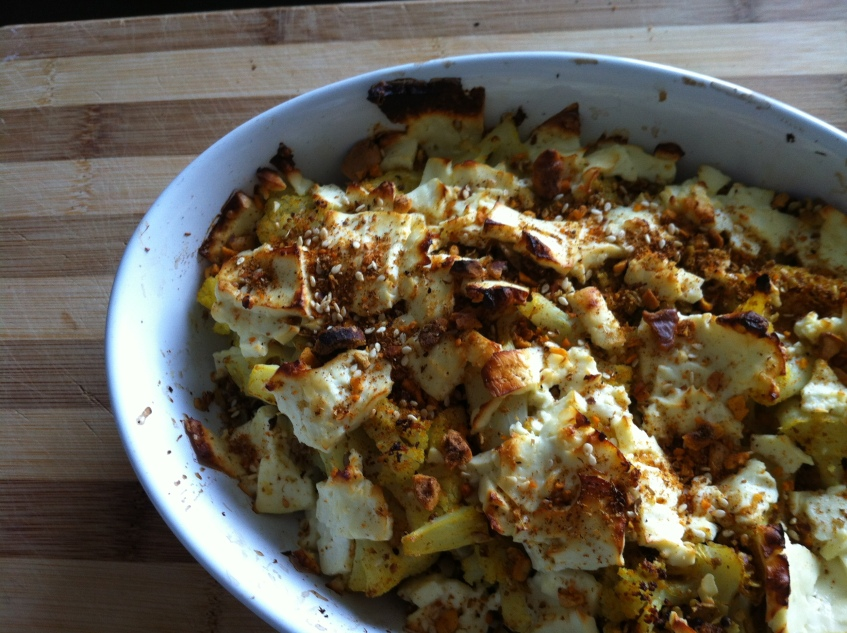 crispy cauliflower crumble