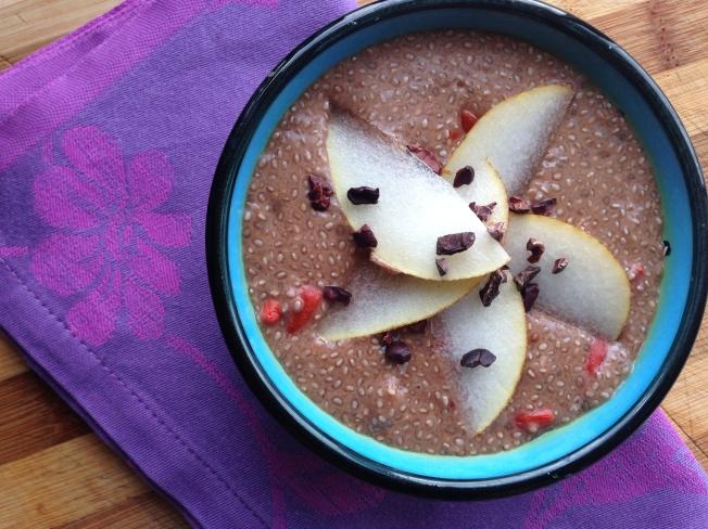 Nadisunshine's choco chia seed pudding
